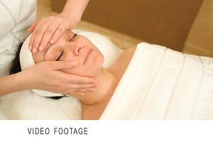 Facial treatment with professional