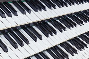 Organ music keys