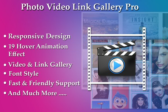 Photo Video Link Gallery Pro