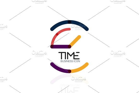 Vector Abstract Logo Idea Time Concept Or Clock Business Icon Creative Logotype Design Template