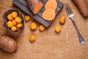 Sweet potato croquettes
