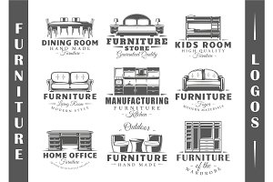 9 Furniture Logos Templates Vol.1