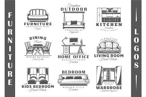 9 Furniture Logos Templates Vol.2