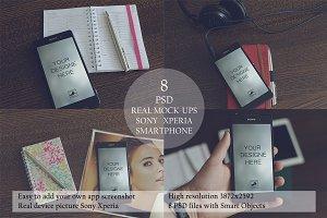 Mock-ups Sony Xperia 8 PSD