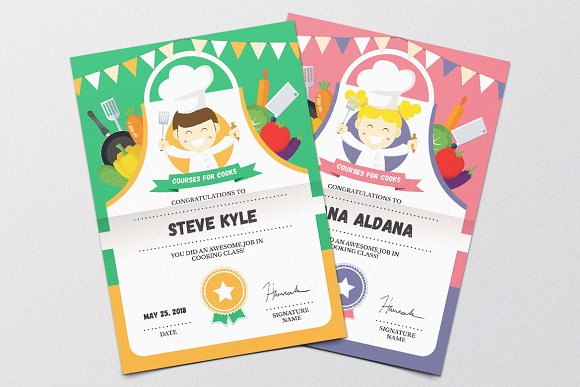 Cooking Class Certificate