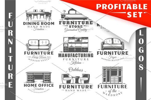 18 Furniture Logos Templates