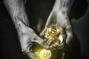 Cryptocurrency investment concept