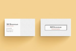Author and Journalist Business Card