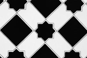 Tile in White and Black and White