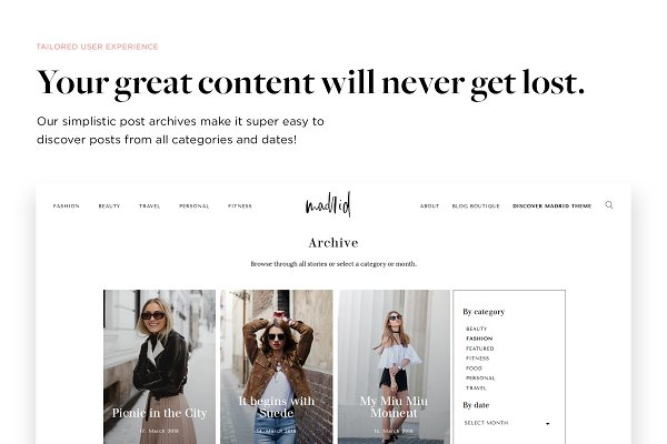 WordPress Magazine Themes: MunichParis Studio - Fashion Magazine Theme - Madrid