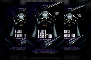 Black Sensation Party Flyer