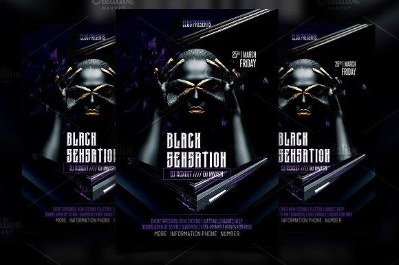 Black Sensation Party Flyer