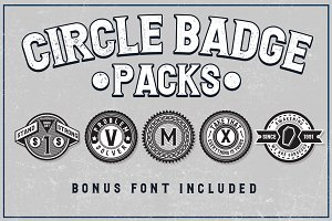 5 Circle Badges + Bonus Font