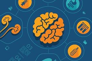 45 MEDICINE FLAT infographics