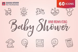 Baby Shower - Hand Drawn Icons