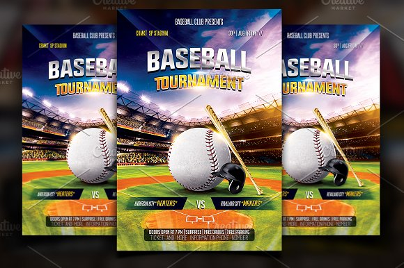 baseball flyer template flyer templates creative market