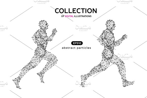 Vector Illustration Of Man Jogging