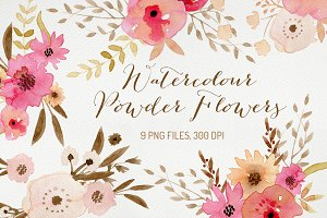 Watercolour Powder Flowers