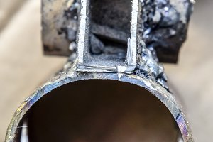 Welding parts racks rods by electric welding