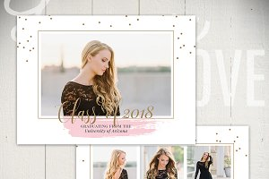 Graduation Card Template - VIB5x7B