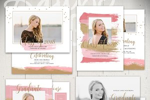 Graduation Card Templates - VB5x7Set