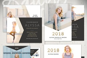 Graduation Card Templates - BL5x7Set