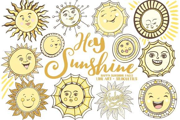 Hey Sunshine Summer Sun Graphics