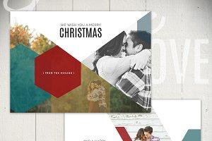 Christmas Card Template - SAT5X7A