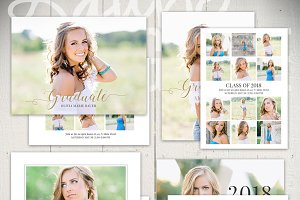 Graduation Card Templates: AMB5x7Set