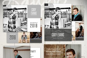 Guys Graduation Templates - CH5x7Set