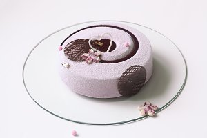 Blueberry Violet Mousse Cake