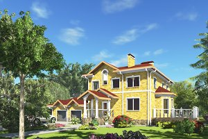 3D render the house.