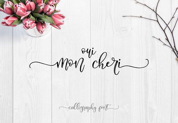 Oui Mon Cheri Font