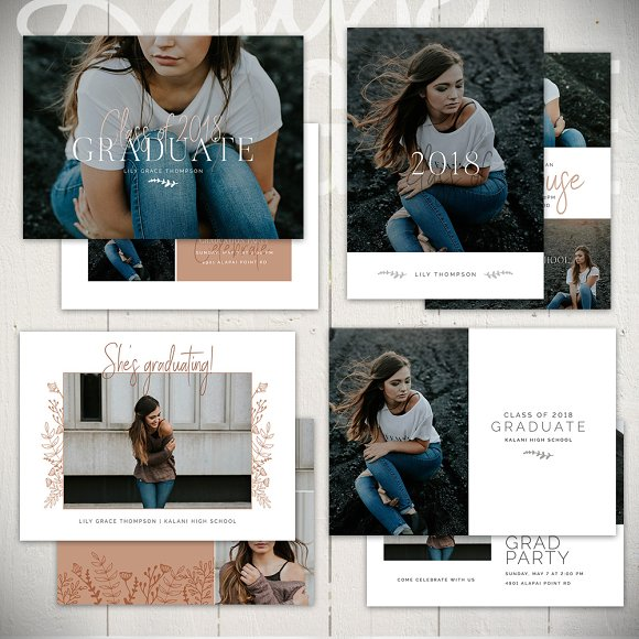 Graduation Card Templates RS5x7Set