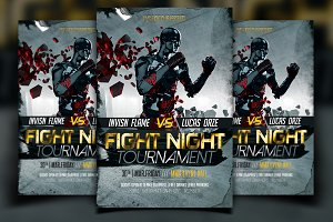 Fight Flyer Template