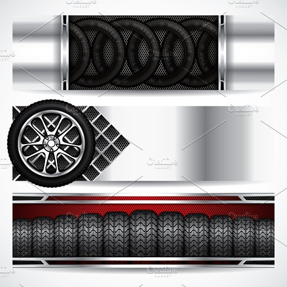 Car Tire Banners
