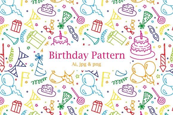 Birthday Party Pattern $4