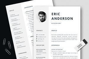 Accountant Resume / CV + Cover Le...