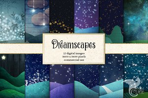 Dreamscapes Digital Paper