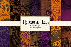 Halloween Lace Digital Paper