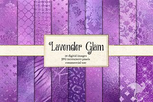 Lavender Glam Digital Paper