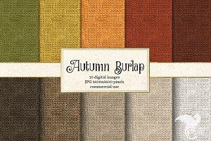 Autumn Burlap Texture