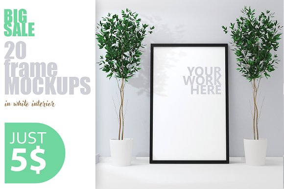 Download 20 PSD poster frame mockup