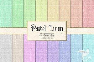 Pastel Linen Texture Digital Paper