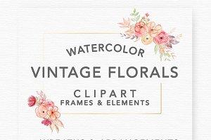 Vintage Romantic Florals & Frames