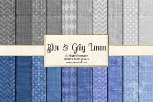 Blue and Gray Linen Textures