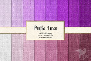 Purple Linen Texture Digital Paper