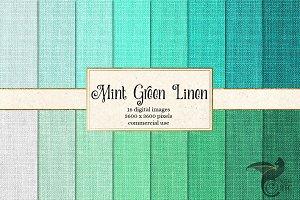 Mint Green Linen Textures