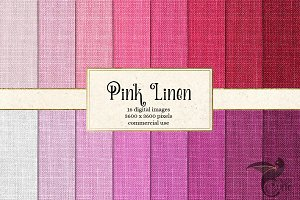 Pink Linen Digital Paper