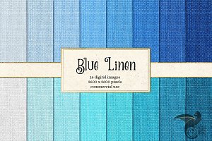 Blue Linen Digital Paper